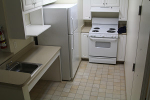 A view of the kitchenette in each Suite in a Suite - the best summer academic camp in NJ!